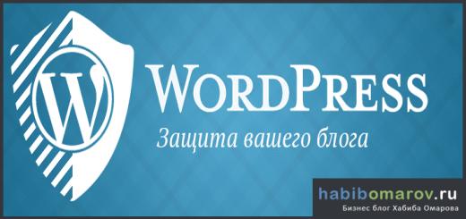 Защита блога на WordPress
