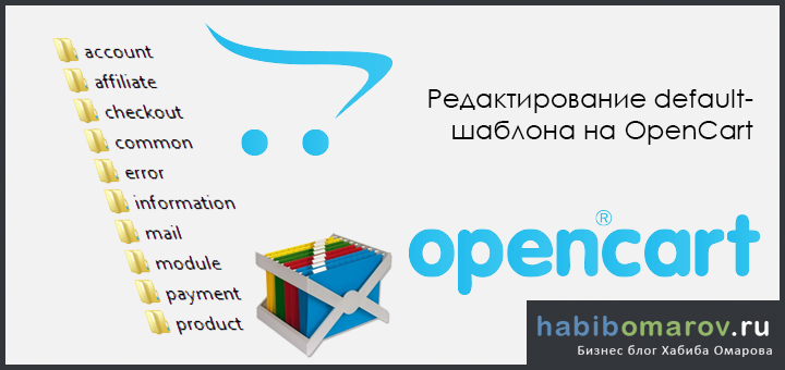 Редактирование default-шаблона на OpenCart