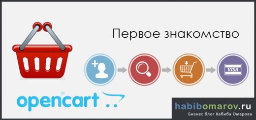 Знакомство с OpenCart